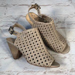 Vince Camuto heeled shoes. Peep toe. Size 8.5